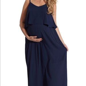 Navy maxi dress sz L